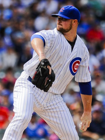 Jon Lester struck out 14, one shy of his career high.