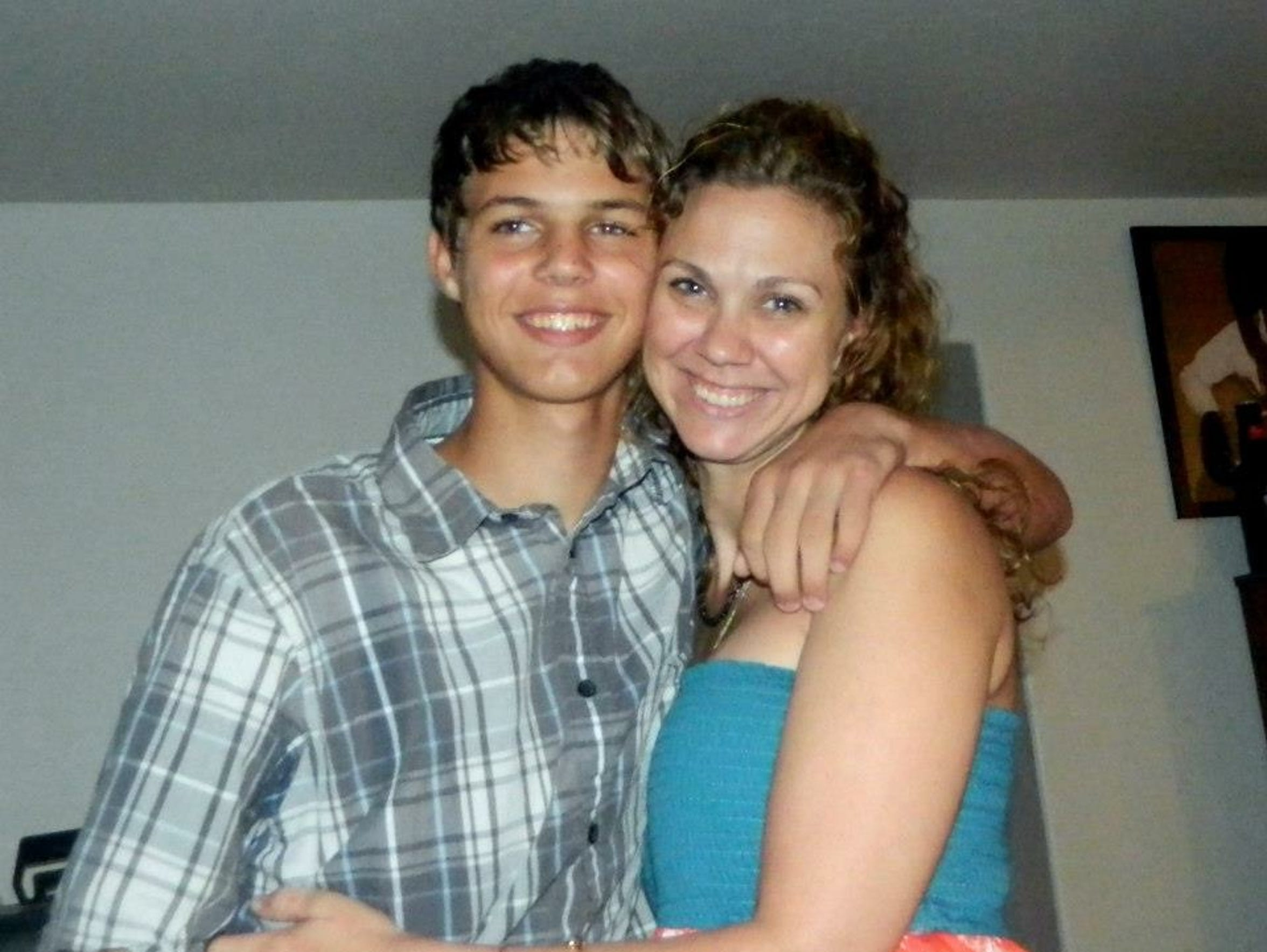 Brianna Wagner and her son, Christian. Christian, 15,