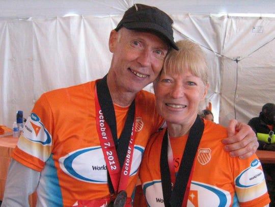 David Ostafinski and his wife Susan enjoy running marathons
