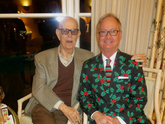Delton Harrison and Roger DeKay at the Holly Jolly