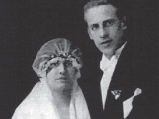 Emilie and Oskar Schindler in their 1927 wedding portrait.