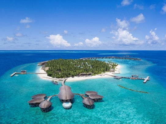 The St. Regis Maldives Vommuli Resort is one of Starwood's