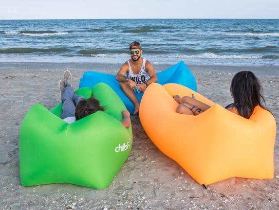 Chillax beach loungers.
