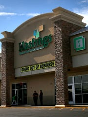 Hastings is pictured on Monday at the San Juan North Shopping Center in Farmington.