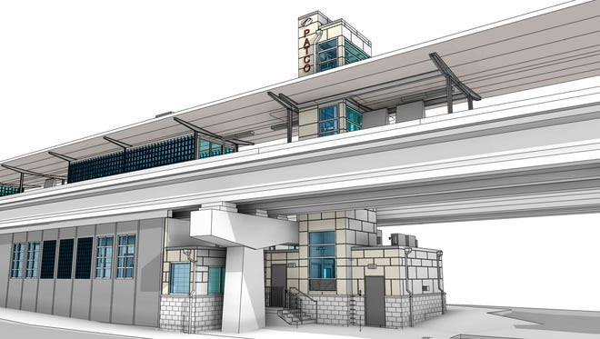 Collingswood station of the PATCO HI-Speedline shows planned tower addition for an elevator on the right.