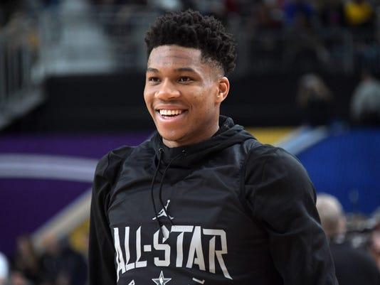 NBA: All Star Game-Team Stephen Practice