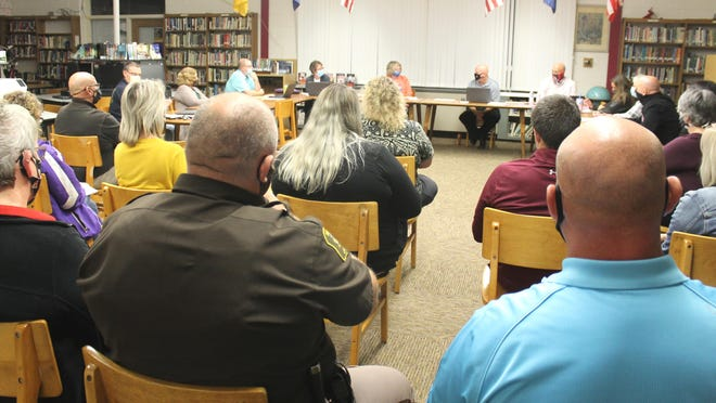 Concerned staff and parents attended a meeting of Bronson Community Schools Board of Education on Monday.