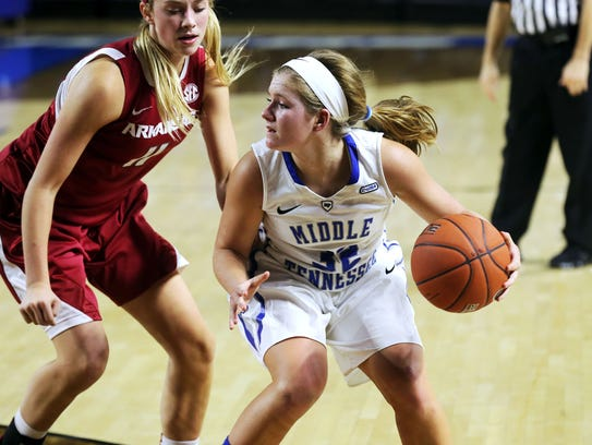 MTSU's Caroline Warden (32) went from walk-on to key