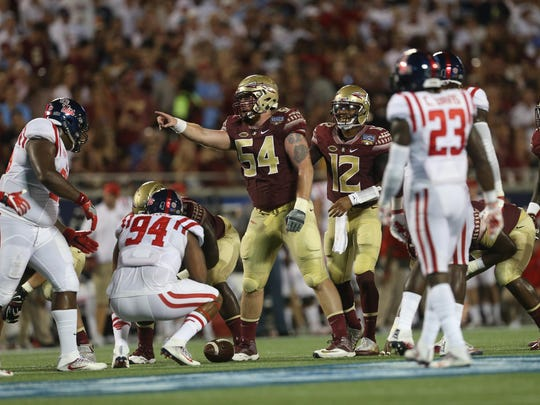 Florida State center Alec Eberle anchors an offensive line that looks to be a team strength.