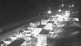 A crash forced emergency officials to close the eastbound Interstate 275 exit at Cincinnati-Northern Kentucky International Airport on Thursday morning.