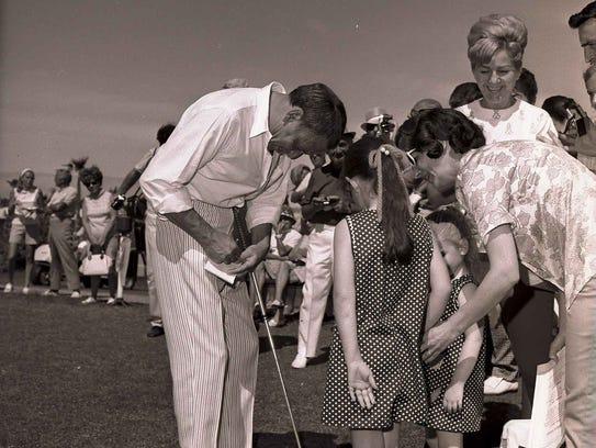 Frank Sinatra at the Chuck Connors Invitational Golf