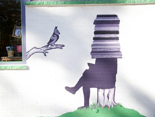 The new mural was designed after imagination and inspiration