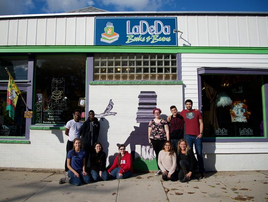 Silver Lake College students who painted the new mural