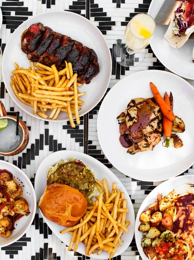 Food you'll find on the menu at Social Hall in Tempe, and at Rafter Room in the upstairs lounge.