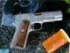This .45-caliber semi-automatic handgun was kept in
