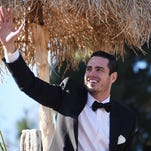 """Ben Higgins of """"The Bachelor,"""" seen here in the Rose Parade in Pasadena, Calif., in January, will make his big decision Monday night."""