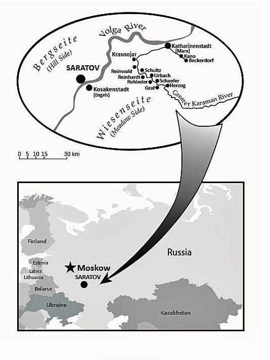 Map Of Germany And Russia.Immigrants Journey From Germany To Russia To Sheboygan