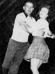 Norman Ferrell and Alice Domogalla skate at the Salem Ice Arena in a photo published in the Dec. 23, 1944, Capital Journal.