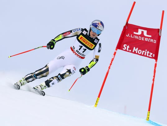 Lindsey Vonn skis out of super-G race at world championships