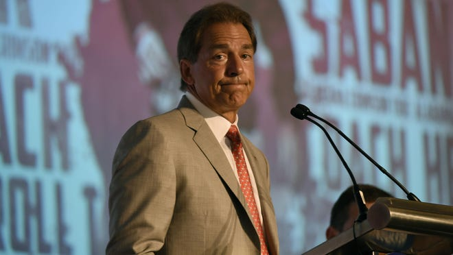 Alabama coach Nick Saban took issue last week with an unauthorized biography that has been written about him.