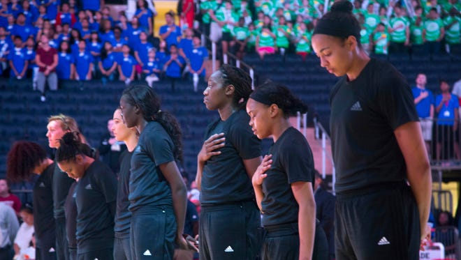 The New York Liberty were among the teams fined for protest shirts.