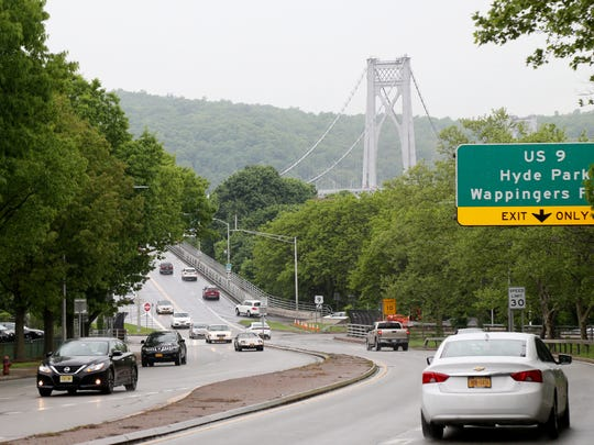 Cars travel along the arterial near the Mid-Hudson Bridge in the City of Poughkeepsie on May 22, 2018.