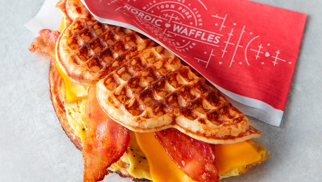 Nordic Waffles are fresh-made waffle wraps in seven varieties.