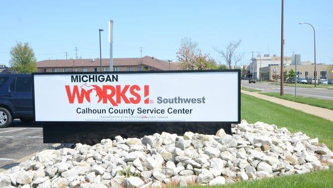 The Michigan Works! Southwest Calhoun County Service Center at 200 W. Van Buren St. in Battle Creek.