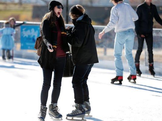 WILD ART: riverfront ice skating