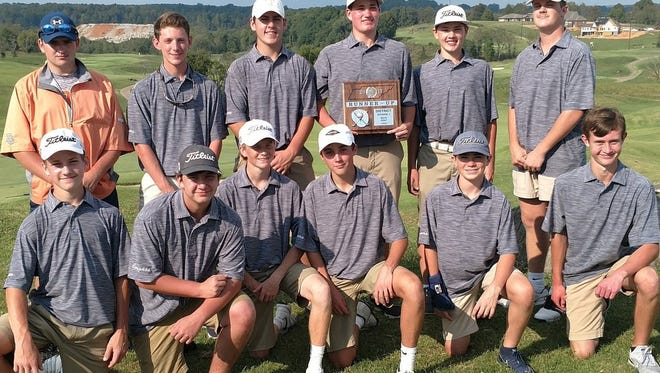 The Dickson County High School Cougar golf team won the TSSAA Large School District 11 golf tournament Tuesday.
