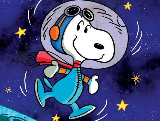 Snoopy returns to the moon in new graphic novel