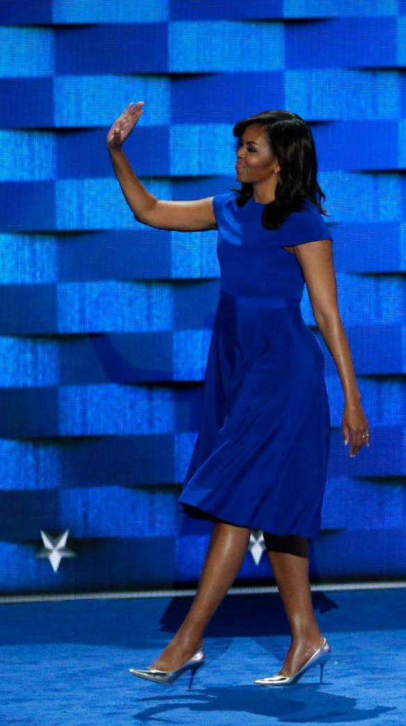Michelle Obama wore Christian Siriano for her historic DNC ...