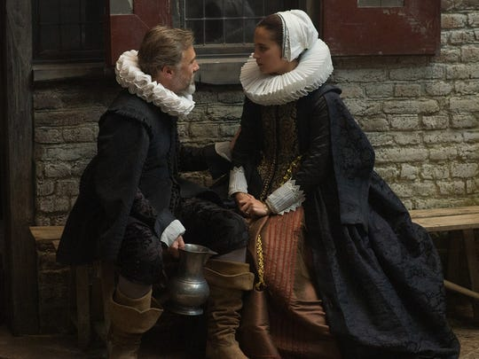 "Christoph Waltz and Alicia Vikander star in ""Tulip Fever."""