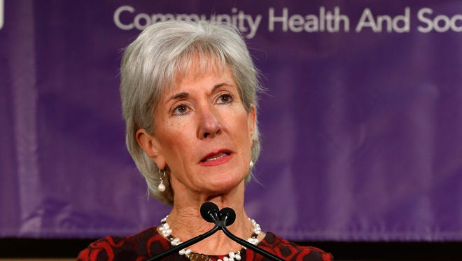 Health and Human Services Secretary Kathleen Sebelius in Detroit on Nov. 15.