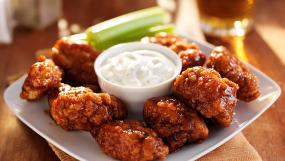 A plate of wings from Wiley's Tavern in downtown Sioux