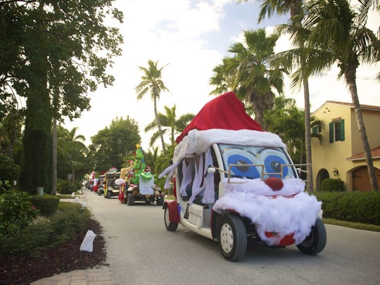 The Captiva golf cart parade is an island tradition that includes 50 decorated golf carts rolling down Captiva Drive.