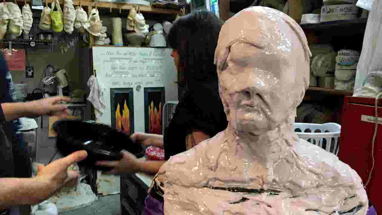 Super special effect: Lifecasting, or covering whole head with goo