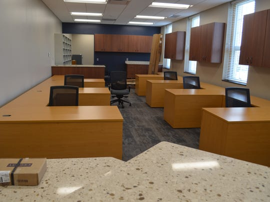 The Sandusky County Clerk of Courts Office features added storage and new desks.