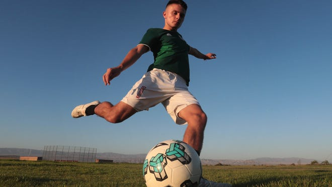 Alex Pimentel, Desert Mirage High star soccer player and the Desert Sun male athlete of the year on Friday, June 29, 2018 in Thermal.