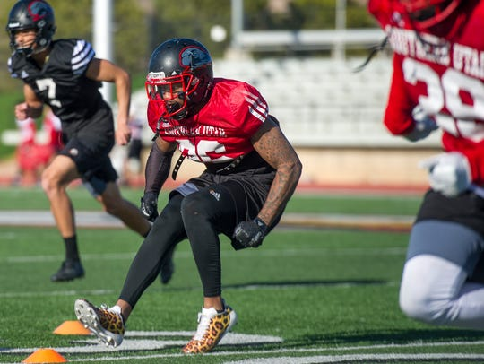 Southern Utah University Cornerback Taelin Webb at