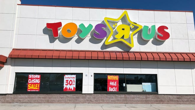 "Reno Toys ""R"" Us store starts liquidation sale with 5 to 30 percent of all inventory March 23, 2018."