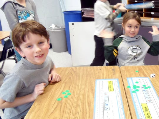 The cold weather this week didn't keep the children in Mrs. Kierszh's first grade class at Carl Traeger Elementary from having fun and showing their creative side.