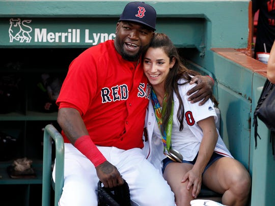 David Ortiz hangs out with Olympic gold medal gymnast
