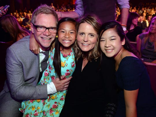 Steven Curtis Chapman, wife Mary Beth Chapman and two