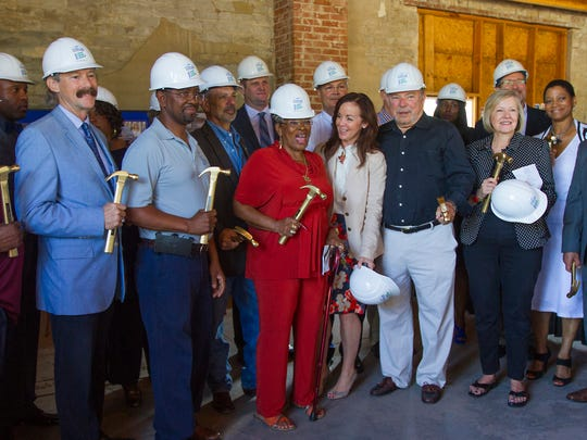 The kickoff ceremony for phase one of the McCollum Hall exterior restoration project was held Thursday (4/28/16) in Fort Myers. Dignitaries, city commissioners and Senator Lizbeth Benacquisto were some of the people in attendance to commemorate the event.
