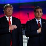 Donald Trump and Ted Cruz in Las Vegas on Dec. 15.