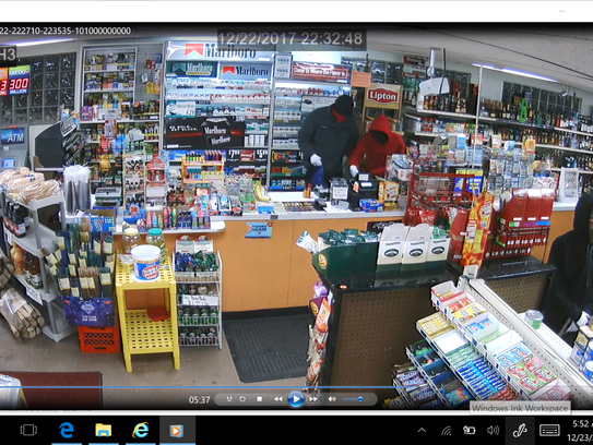 Two men and a woman robbed a convenience store Friday
