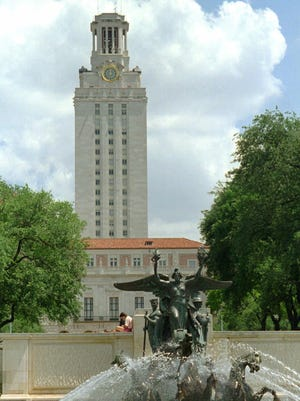 FILE -- The main tower at the University of Texas is shown in this July 1, 1996 file photo in Austin, Texas. The University of Texas board of regents voted unanimously Thursday, Nov. 12, 1998 to reopen the school's landmark clocktower, once the site of one of the nation's worst mass murders. (AP Photo/Harry Cabluck) ORG XMIT: AT102