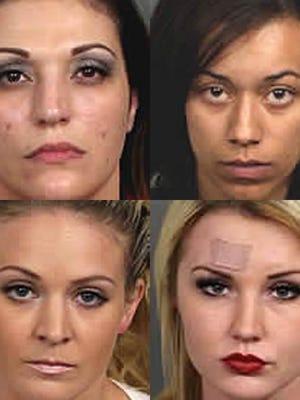 Haley Zellner (top left), Kiearah Phillips (top right), Sarah Hubbard (bottom left), Kylie Ewell (bottom right).