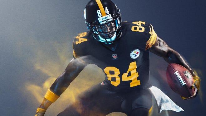 The Steelers' Nike Color Rush uniform.